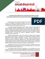 Comunicat de presa - Europarlamentarul PSD Dan Nica - Europarlamentarii PSD vor aproba directionarea masiva de fonduri europene pentru raspunsul la coronavirus - 25.03.2020