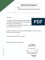 Despacho IPP-P-060-2014 - Regulamento dos Estatutos Especiais dos Estudantes do IPP -versao NEE