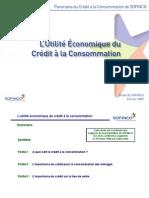 De l'utilité économique du crédit à la consommation