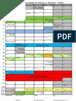 Academic Calendar for Student