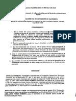 Designación Alcalde Puerto Parra