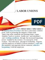 trade labor unions