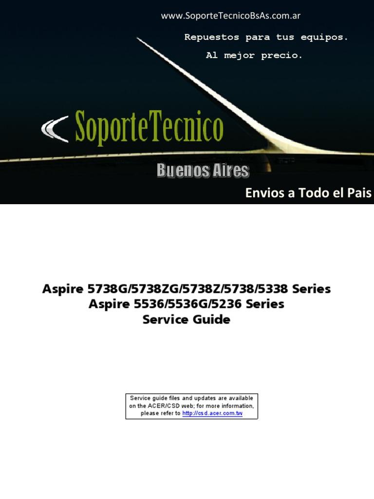 service manual acer aspire 5738g 5738zg 5738z 5738 5338 5536 5536g 5236 rh scribd com Acer Aspire Desktop Acer Aspire E 15