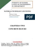 2-Concrete Blocks and Testing