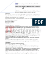 Accenture Placement Paper Pattern and Interview Questions - 5