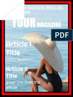 Test Magazone Template