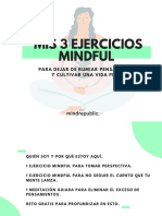 MIS 3 EJERCICIOS MINDFUL