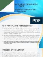 PREPARATION OF DIESEL FROM PLASTIC WASTE.pptx