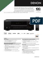 denon avr1312 - product information