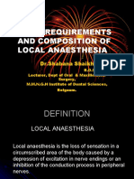 Ideal Requirements and Composition of Local Anaesthesia