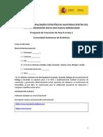 Informe presentado por la Junta de Andalucía al Ministerio de Sanidad para pasar a la fase 1 de la desescalada