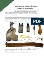 Surpriză în traista unui șaman de acum 1000 de ani Cocaină și ayahuasca.docx