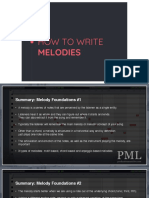 PML - Melody Course Slides Collection