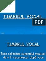 Timbrul muzical vocal