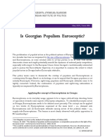 Is Georgian Populism Eurosceptic?