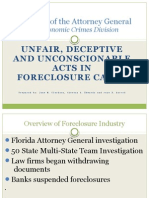 "Florida Attorney General ""Unfair, Deceptive and Unconscionable Acts in Foreclosure Cases"""