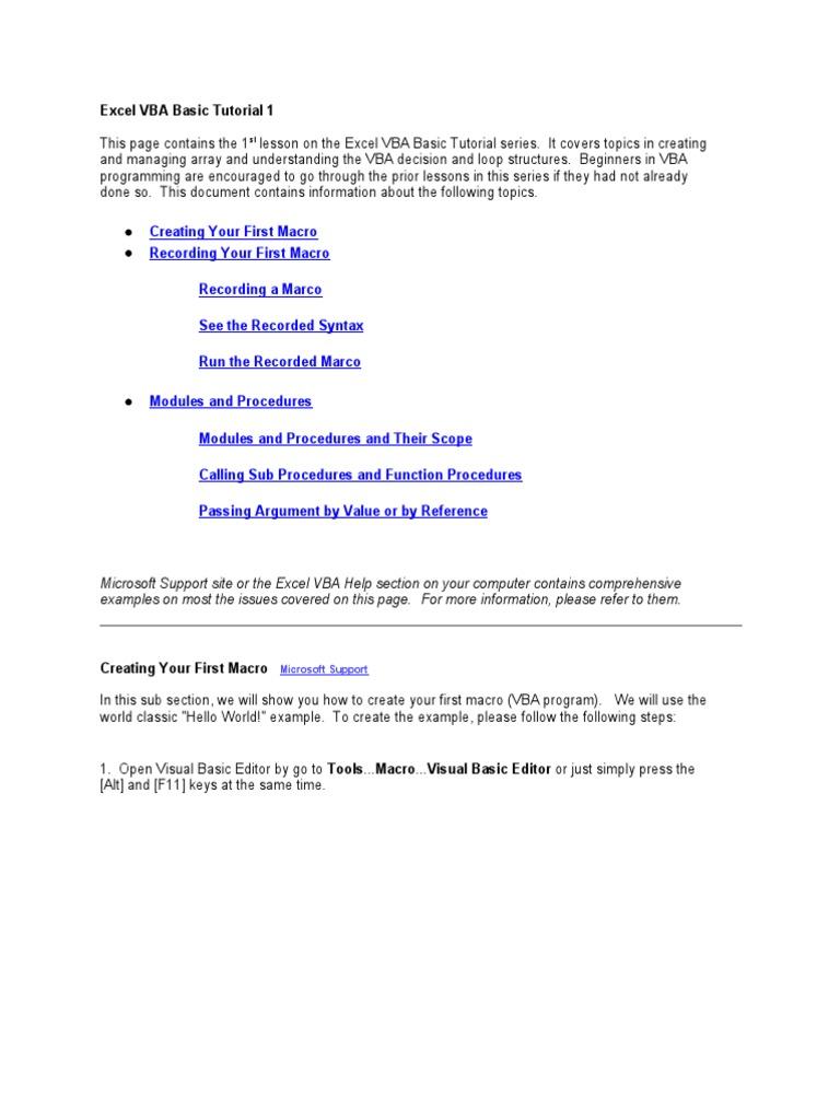 Excel Vba Basic Tutorial Array Data Type Microsoft Excel