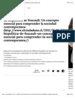 » La Biopolítica de Foucault