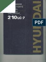 Manual Escavadeira Hyundai 210Lc