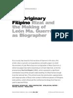 Fernandez, The originary Filipino, Rizal and the making of Leon Ma. Guerrero as biographer.pdf