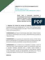 INSTRUÇÃO NORMATIVA TC N° 32, DE 04 DE NOVEMBRO DE 2014