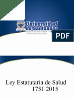 Ley estatutaria - Seguridad del Paciente