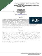 Pengaruh Environmental Cost Terhadap Profitabilitas dan Nilai perusahaan