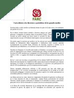 Carta Abierta de Rodrigo Londoño a La Prensa