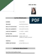 HOJA DE VIDA DE JULIA YENNY MARTINEZ DELGADO