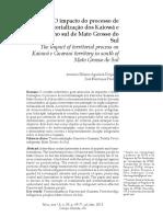 Artigo sobre os Kaiowá Guarani em MS