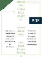 PORTAFOLIO #1_JUAN DAVID RENDON_TEORIA DE LA DIDACTICA