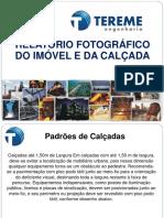 RELATÓRIO FOTOGRÁFICO - TEREME CALÇADA