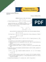 PARCIAL  algebra