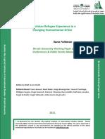 Palestinian Refugee Experience in a Changing Humanitarian Order - Ilana Feldman