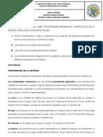 TALLER #2 PROPIEDADES DE LA MATERIA