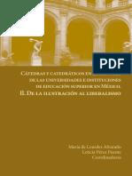 Cátedras y catedráticos en la historia de las universidades e instituciones de educación superior en México. II. De la ilustración al liberalismo