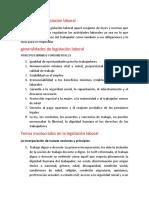 concepto de legislación laboral