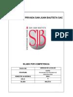 SILABO INGLES II  2020-I
