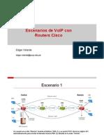 Escenarios de VoIP Con Routers Cisco