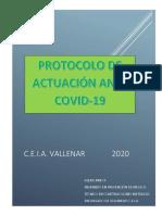 Protocolo Actuación Covid-19