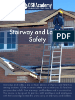 603 Study Guide - Stairway and Ladder Safety