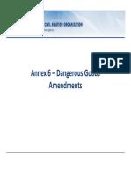 2.2-Annex 6  Dangerous Goods Amendments