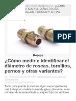 CÓMO MEDIR E IDENTIFICAR EL DIÁMETRO DE ROSCAS, TORNILLOS, PERNOS Y OTRAS VARIANTES