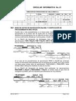 CI No 81 BASE DE DATOS DE NAVEGACIÓN _NavDB_ Y CODIFICACIÓN DE  PROCEDIMIENTOS MÚLTIPLES.