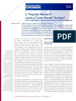 The populist moment towards a post liberal Europe