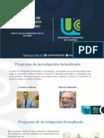 PROGRAMA DE INVESTIGACION FORMALIZADO
