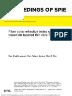 Fiber optic refractive index sensor based on tapered thin core fiber