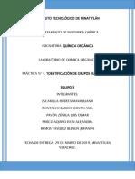 REPORTE 4 DE QUIMICA ORGÁNICA EQUIPO 3