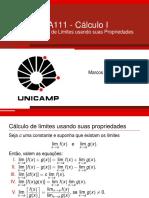 Aula5 - Cálculo de Limites usando Propriedades