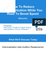 09 How To Reduce Subvocalization While You Read To Boost Speed